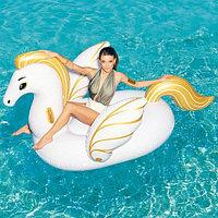 Надувной пляжный плот для плавания Пегас с ручками,231*150 см, BESTWAY 41118