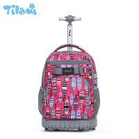Школьный рюкзак на колесах Tilami BIRD FEATHER (Перо)