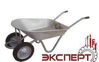 Тачка садовая 2-колесная, усиленная, серая, цельнорезин. колесо, грузоподъемность 80 кг, объем 78 л/ ЭКСПЕРТ
