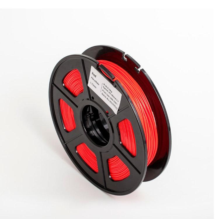 Пластик для 3D принтеров гибкий, SUNLU, красный