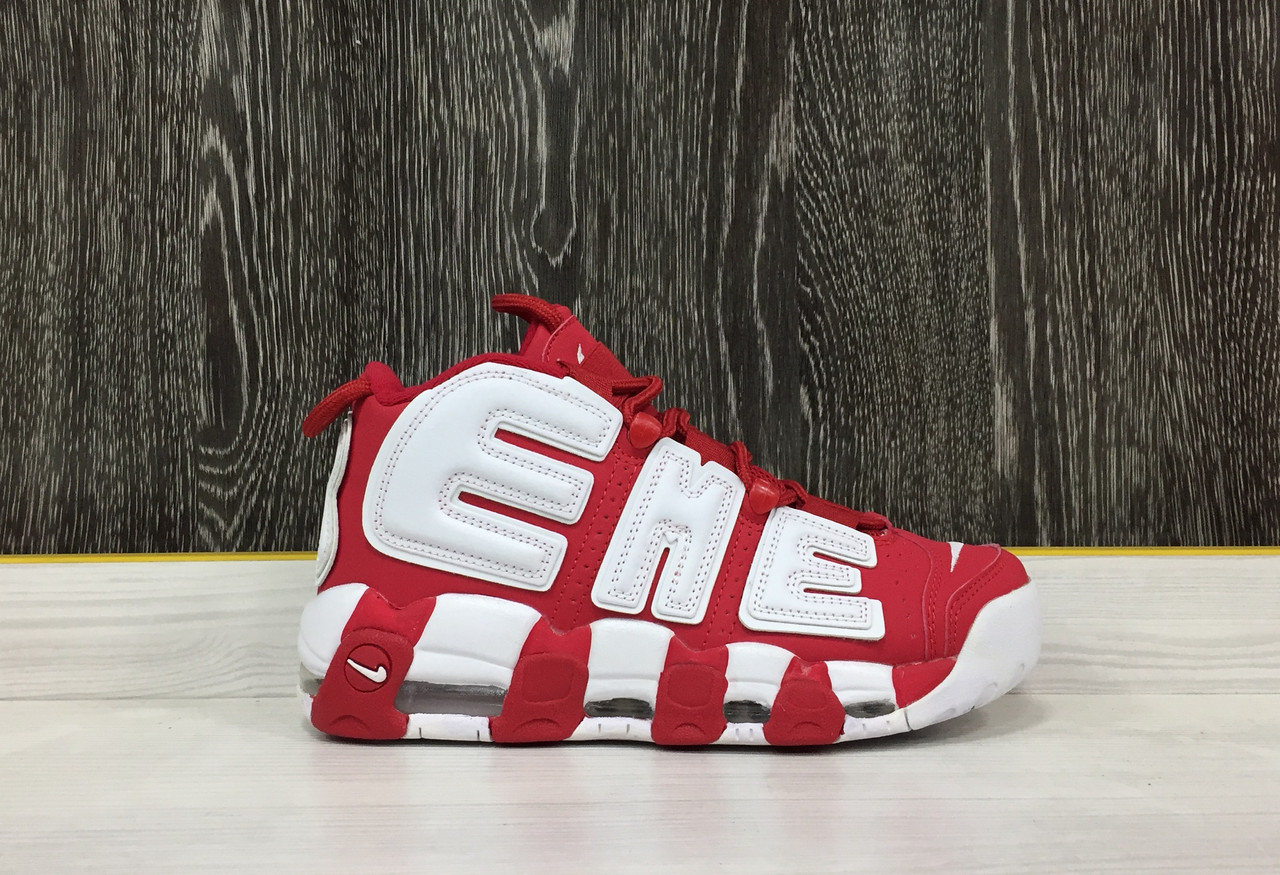 """Кроссовки Nike x Supreme """"Air More Uptempo"""" (Varsity Red)"""