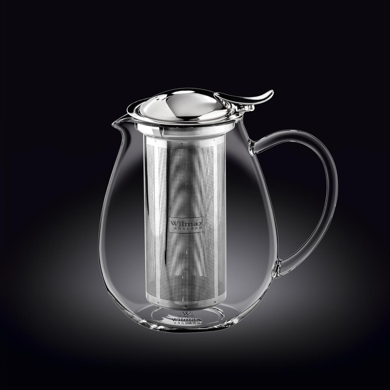 Заварочный чайник с ситечком Wilmax Thermo Glass 1300 мл