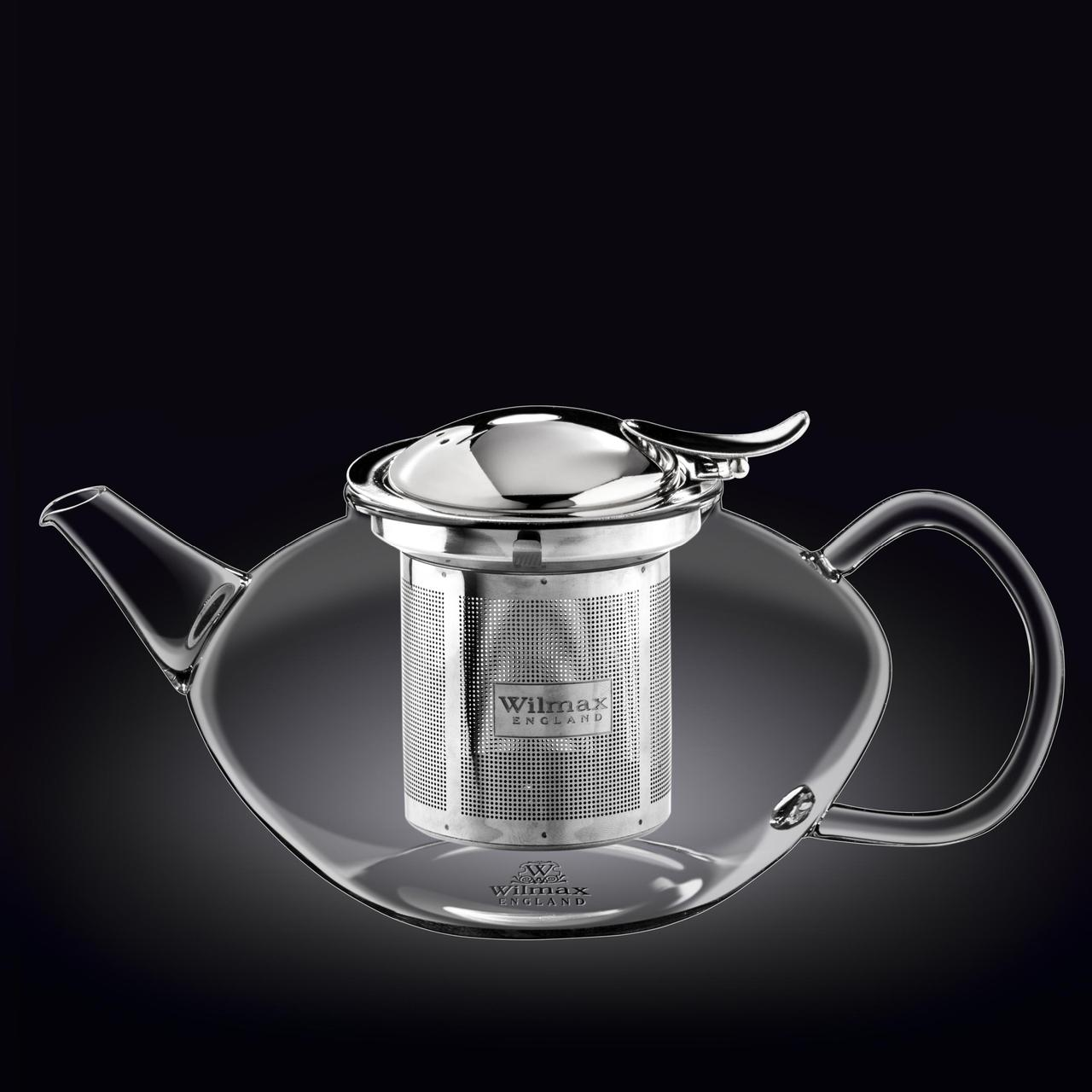 Заварочный чайник с ситечком Wilmax Thermo Glass 1550 мл