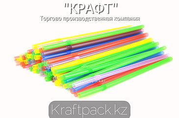 Трубочки для коктейля (Толстые) 8*260 цветные с гофрой (500/2500)
