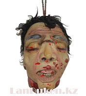 Окровавленная голова мужчины на веревке муляж 25х14 Декорация для хэллоуина