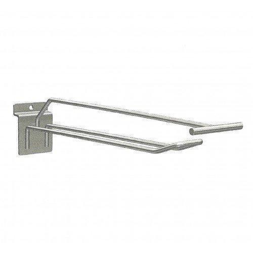 Крючок торговый двойной с держателем ценника (5х150 мм) цинк арт. ie30z4 2/5-150