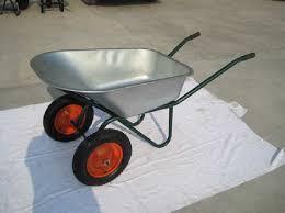 Тачка садово-строительная усиленная  грузовая 320 кг, 2- колесная, объем 100 л/ PALISAD (с надписью)