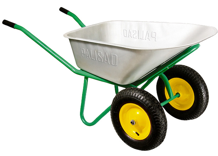 Тачка садовая 2-колесная, груз. 170 кг, объем 78 л/ PALISAD