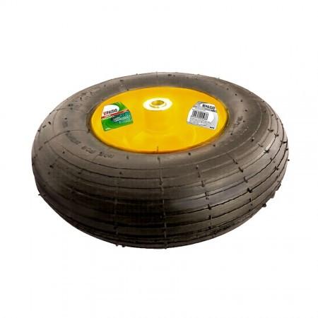 Колесо пневматическое, 4.00-6, D-325 мм, внутр. диаметр подшибника 16 мм, длина оси 100мм// PALISAD
