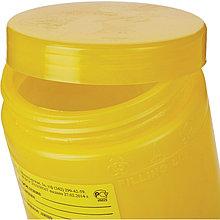 Емкость-контейнер для сбора отходов Б 1 л желтая