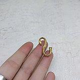 Застёжка для плетеного шнура, 27х14х3мм, фото 3