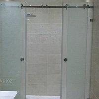 Перегородки на ванную с раздвижными дверьми