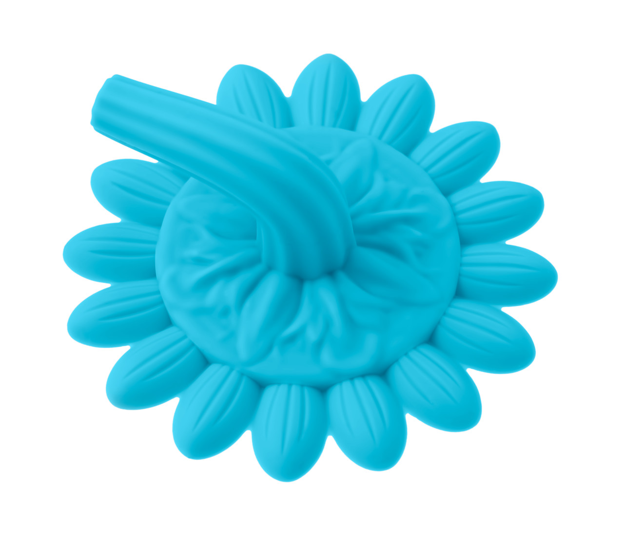 Губка для тела силиконовая (подсолнух). Цвет: голубой - фото 3
