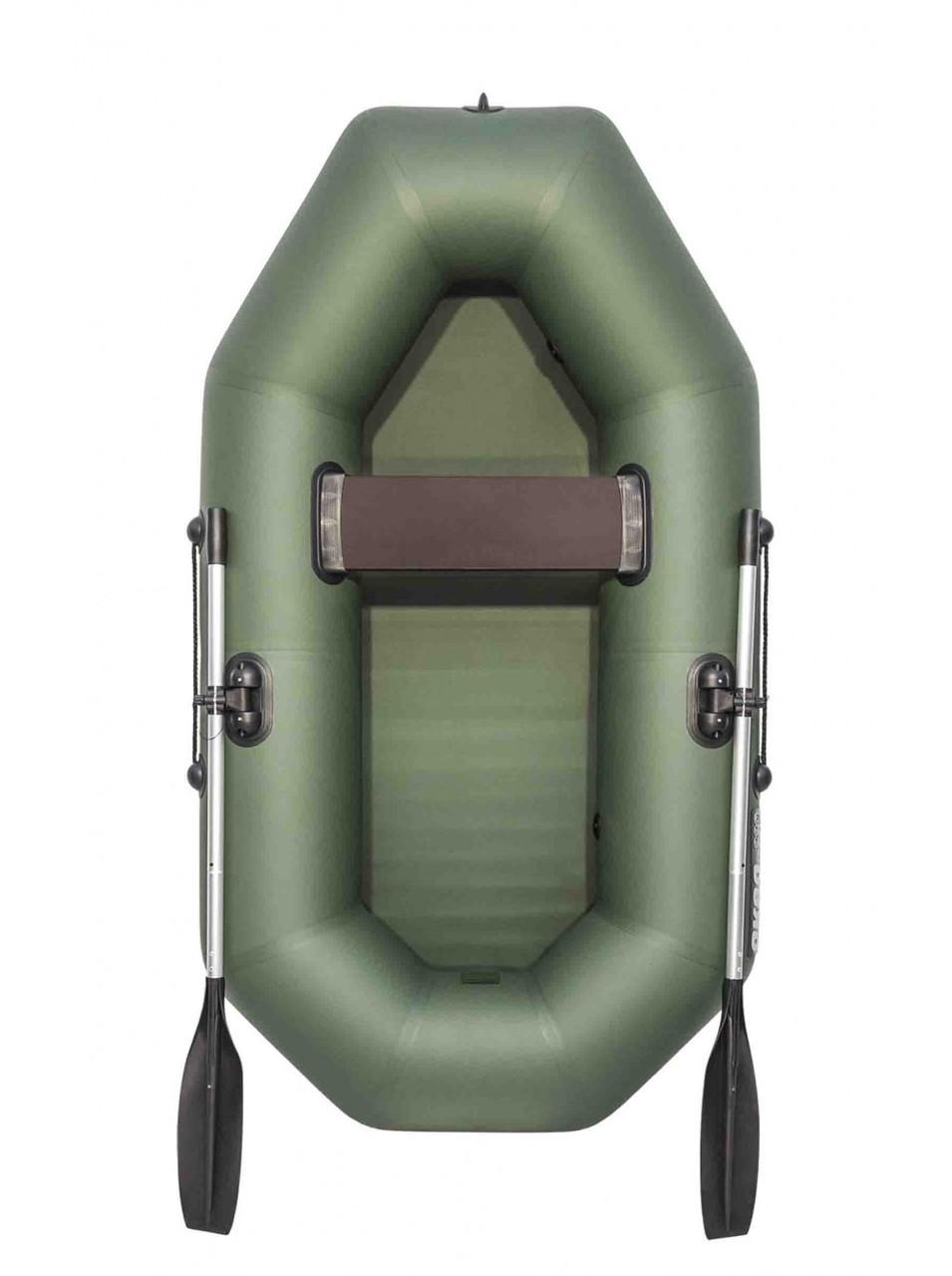 Лодка гребная надувная плоскодонная Аква Оптима 240, Грузоподъемность: 170кг, Вместимость: 2 чел., Кол-во отсе
