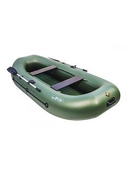 Лодка гребная надувная плоскодонная Таймень V 290 НД, Грузоподъемность: 220кг, Вместимость: 2 чел., Кол-во отс