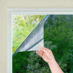 Пленка-штора самоклеящаяся зеркальная солнцезащитная для окна