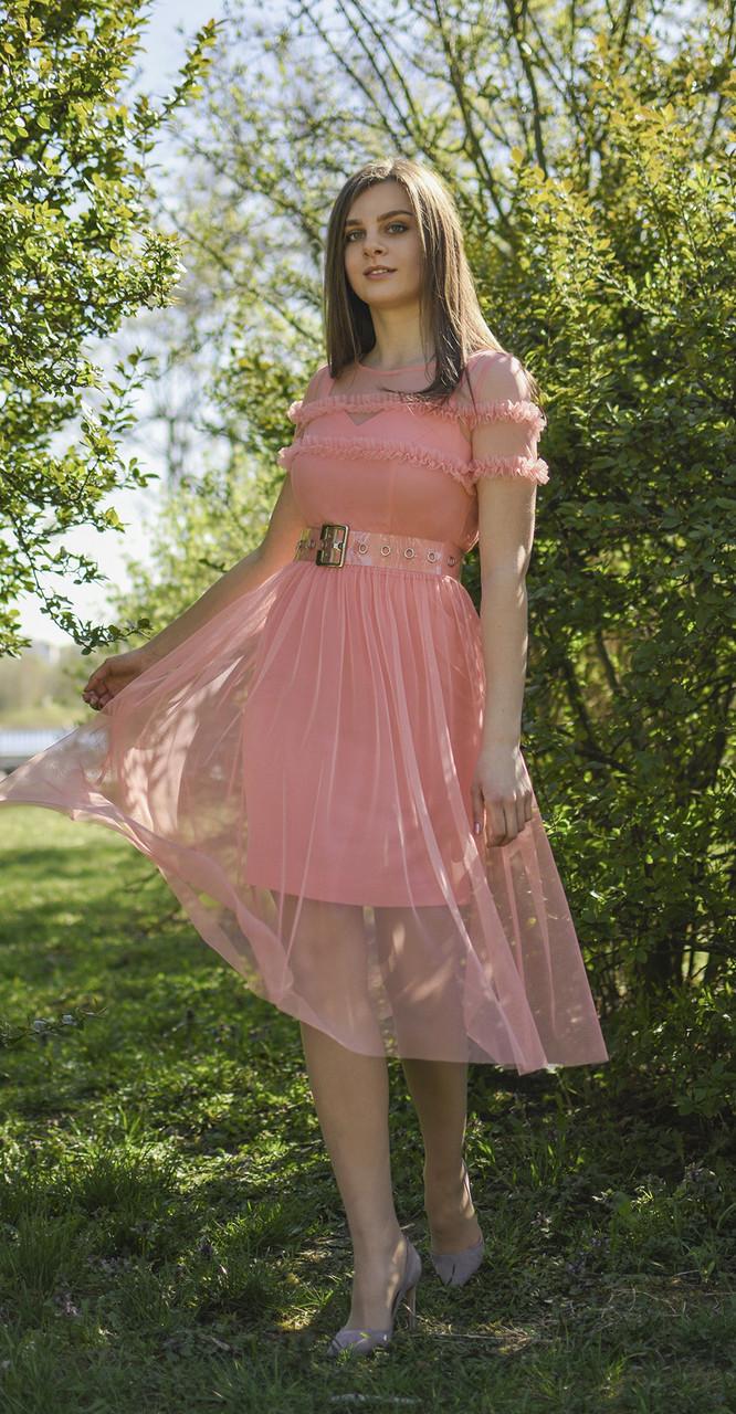 Платье JeRusi-1985, коралл, 46