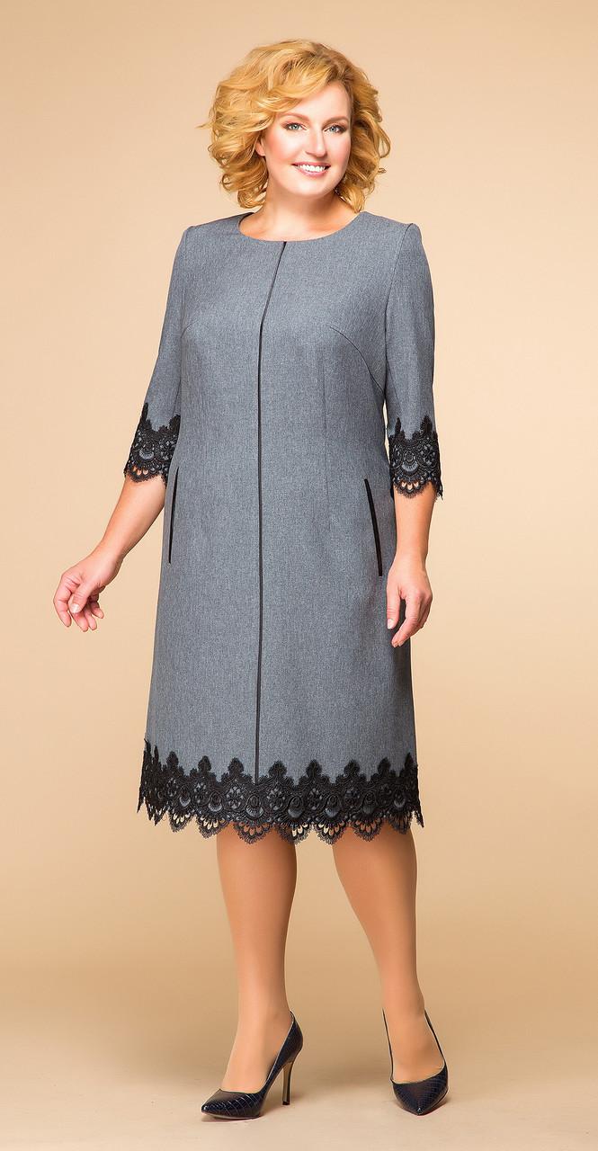 Платье Romanovich-1-1284, серый, 50