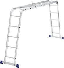 Лестница шарнирная алюминиевая, 2х4 + 2х5/ СИБРТЕХ