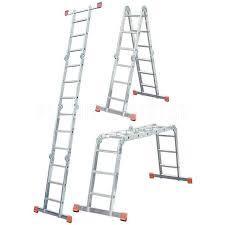 Лестница шарнирная алюминиевая, 4х3/ СИБРТЕХ