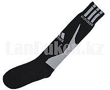 Футбольные гетры спортивные черные с белой надписью