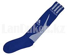 Футбольные гетры спортивные синие с белой надписью