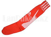 Футбольные гетры спортивные красные с белой надписью
