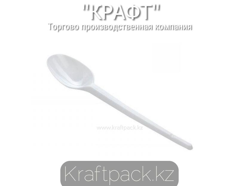 Ложка пластиковая чайная, белая Компакт 125мм (100/3000)