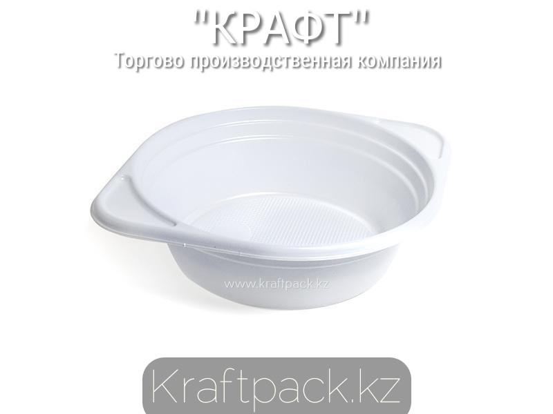 Тарелка суповая 500мл белая Эконом 5,5гр (100/1900)