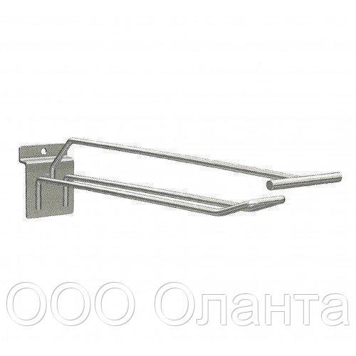Крючок торговый двойной с держателем ценника (5х400 мм) цинк арт. ie40z4 2/5-400