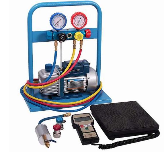 AC-2014 Комплект для заправки кондиционеров,  compact