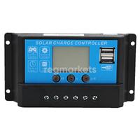 Контроллер заряда JUTA DY1024DU 10А  (12/24В)  LED USB-выход