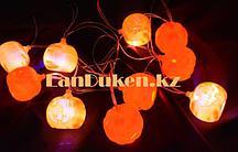 Светящиеся LED Гирлянда тыква для Хэллоуина 2.9 м на батарейках