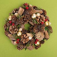 """Новогодний венок """"Christmas"""", коричневый, , 59000, фото 1"""