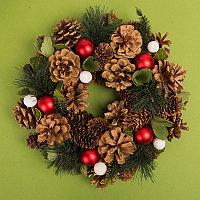 """Новогодний венок """"New Year"""", коричневый, , 59001, фото 1"""