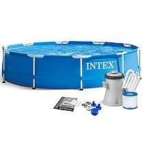Бассейн каркасный INTEX 28202 (305 х 76 см + фильтр на 4485 литров), фото 3