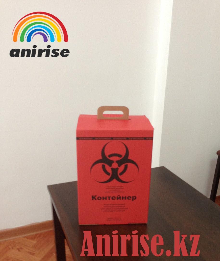 Контейнер картонный для сбора медицинских отходов на 10 л класс В