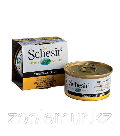 Schesir консервы для кошек (с тунцом и сурими) 85 гр.