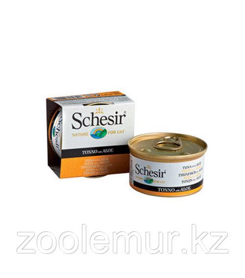 Schesir консервы для кошек  (тунец и алоэ) 85 гр.