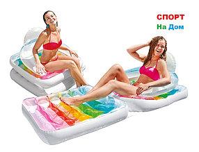 Надувное кресло-матрас INTEX 58847 (198 х 94 см) для пляжа