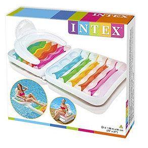 Надувное кресло-матрас INTEX 58847 (198 х 94 см) для пляжа, фото 2