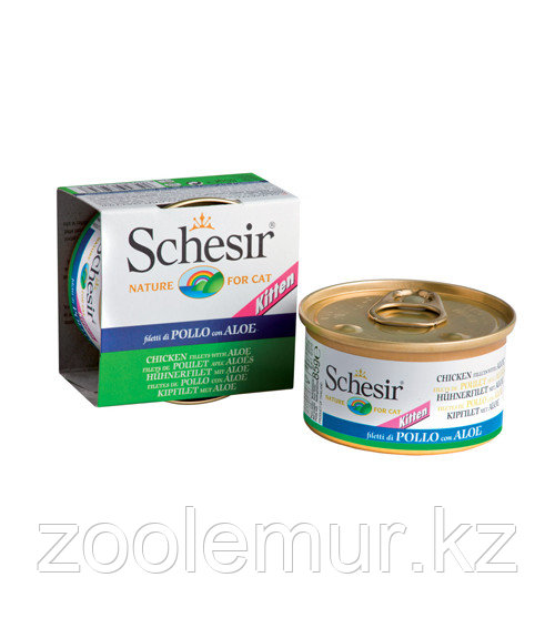 Schesir Kitten консервы для котят (с цыпленком и алоэ) 85 гр.