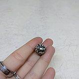 Бусина круглая из серебра, с мантрой, 13мм, фото 5