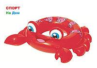 """Надувной круг для детей от 3 до 6 лет Bestwey 36059 """"Крабик"""" (74 х 81 см)"""
