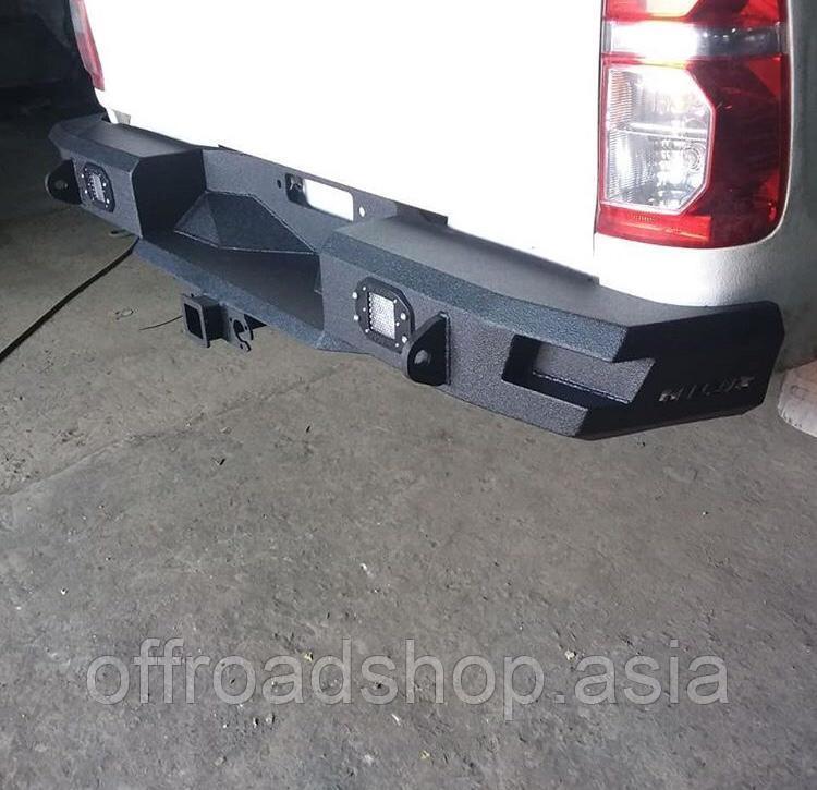 Задний силовой бампер RIVAL (алюминиевый)