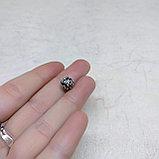 Бусина круглая из серебра, с мантрой, 8мм, фото 5