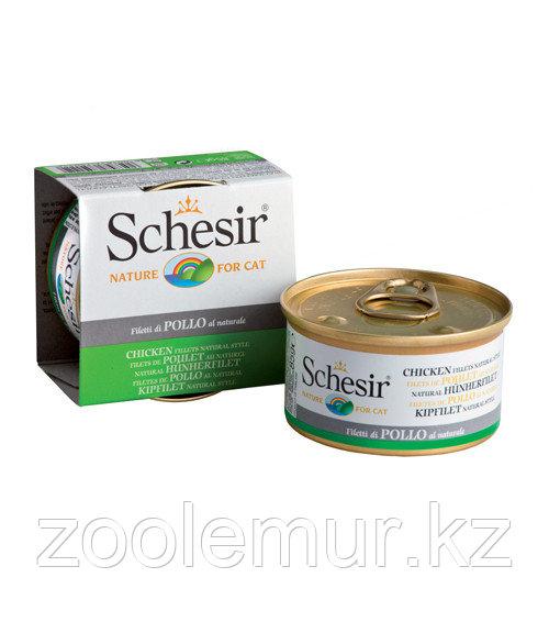 Schesir консервы для кошек (с цыпленком в собственном соку) 85 гр.