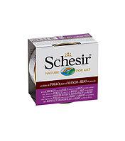 Schesir консервы для кошек (с цыплёнком, говядиной и рисом)  85 гр., фото 1