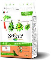 Schesir сухой корм вегетарианский для собак средних и крупных пород 3кг, фото 1
