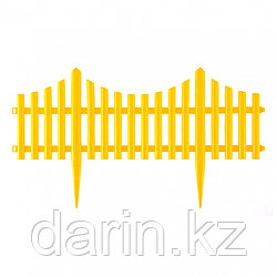"Забор декоративный ""Гибкий"", 24 х 300 см, желтый, Россия, Palisad"